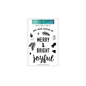 Merry & Bright, Concord & 9th Clear Stamps - 902223994404