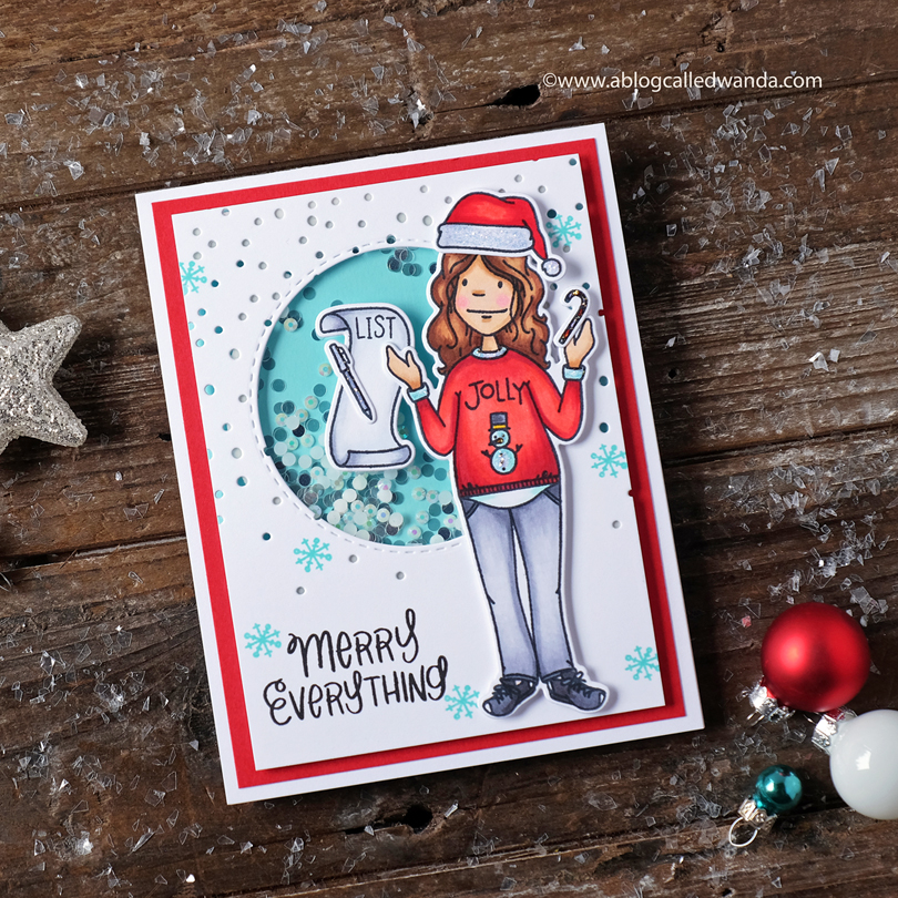 Essentials by Ellen Holiday Shopper Lady card by Wanda Guess
