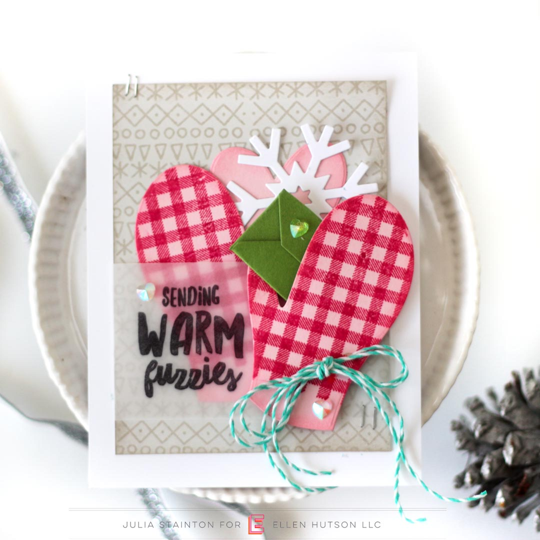 Essentials by Ellen Pop-Up Mitten card by Julia Stainton