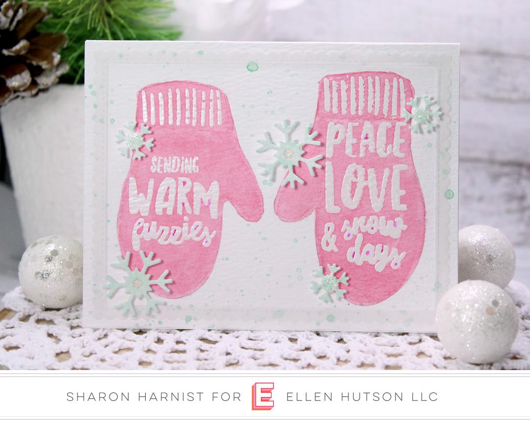 Essentials by Ellen Snow Days card by Sharon Harnist