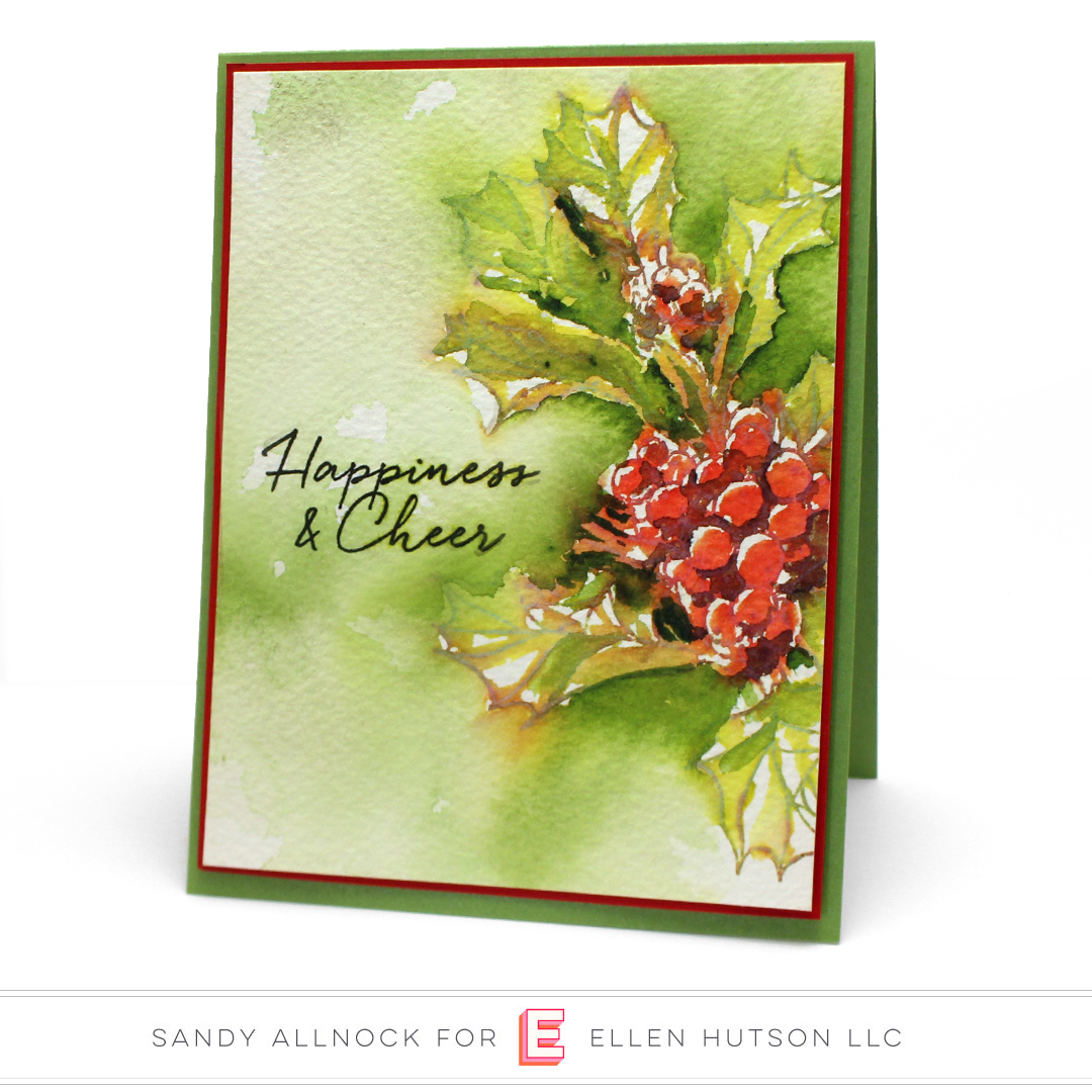 Essentials by Ellen Mondo Holly card by Sandy Allnock