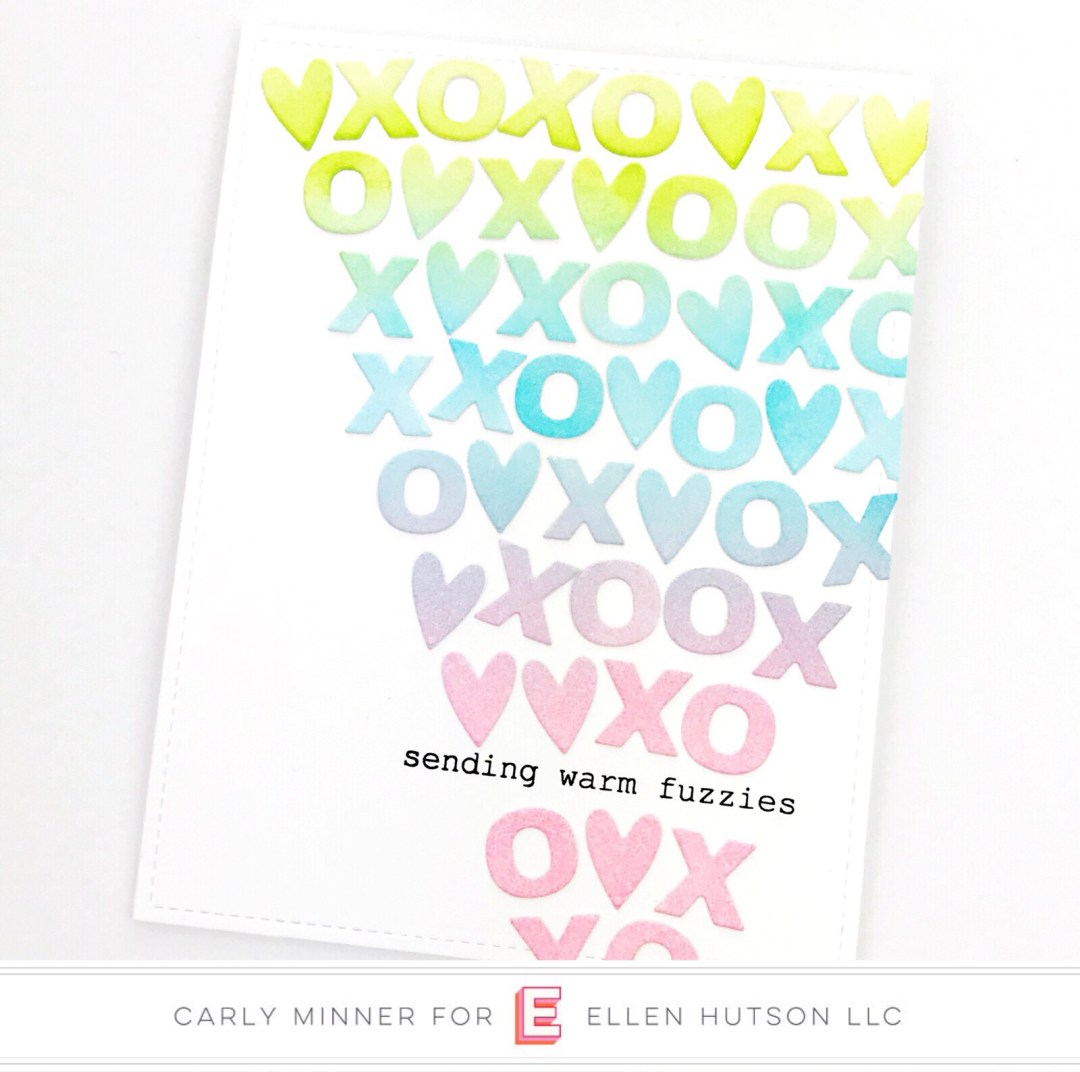 Essentials by Ellen Confetti Kisses card by Carly Tee Minner