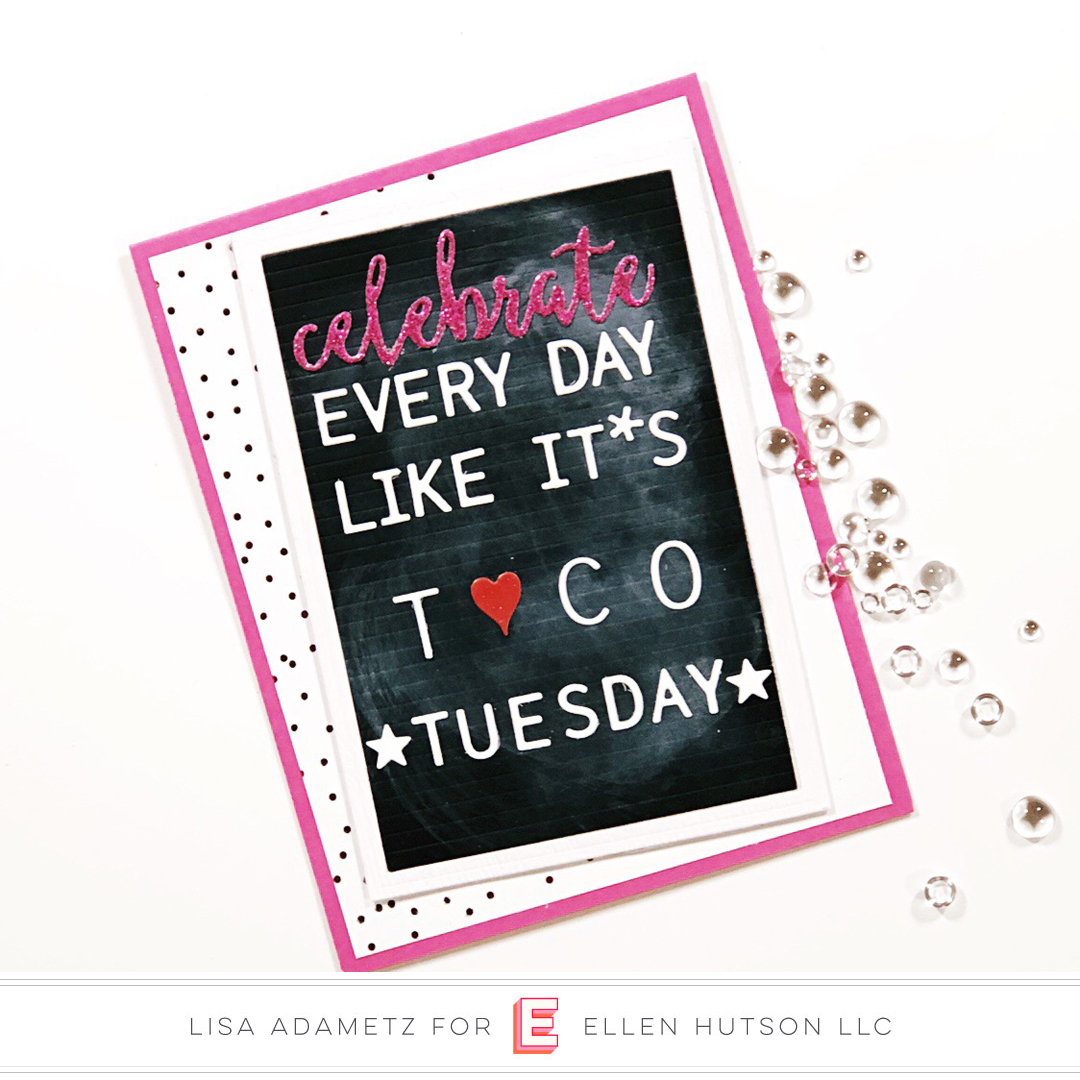 Essentials by Ellen Letterboard card by Lisa Adametz
