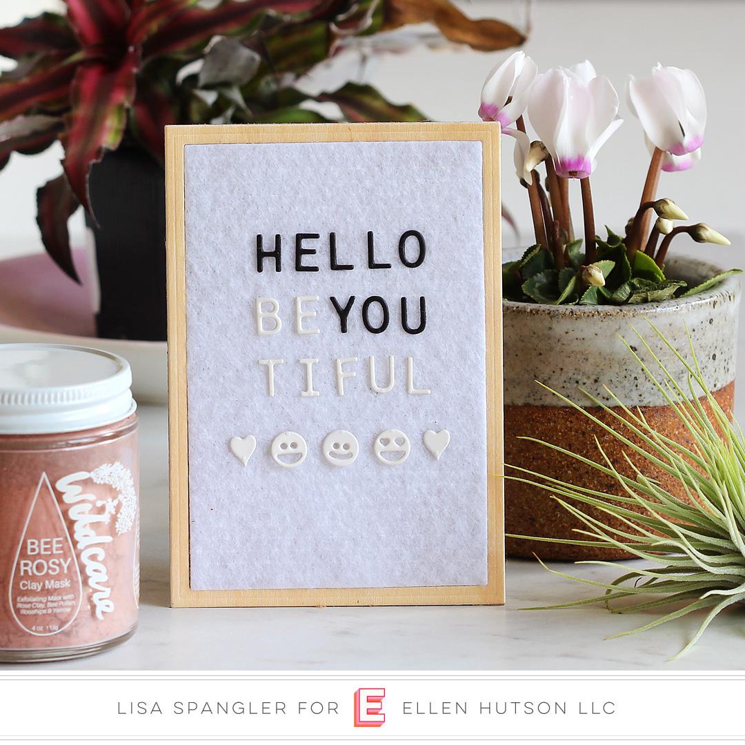 Essentials by Ellen Letterboard card by Lisa Spangler