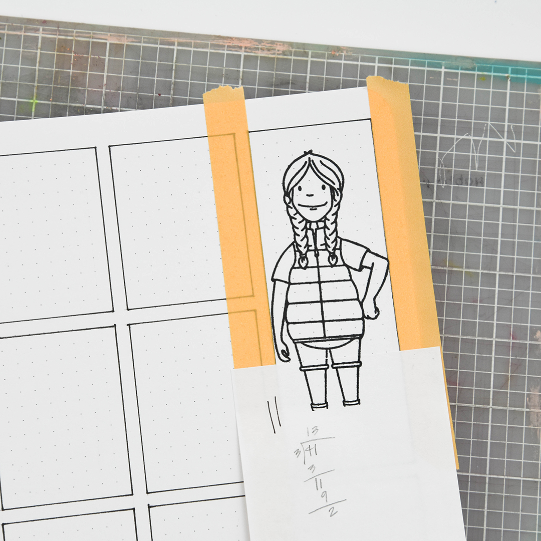 Stamping Woodsy Lady in planner