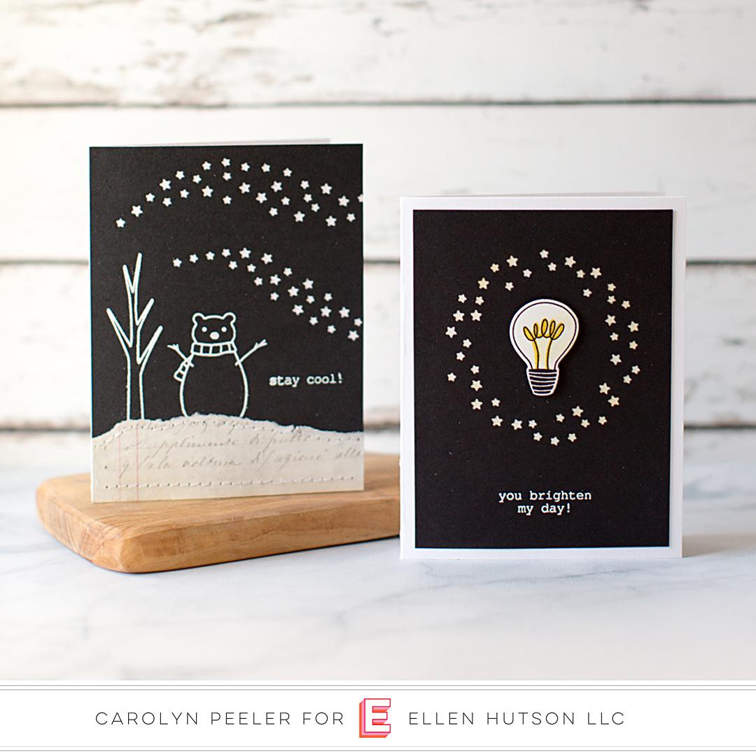 Essentials by Ellen Circle of Stars card by Carolyn Peeler