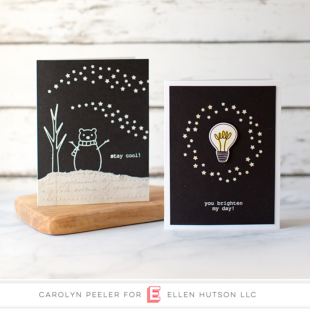 Essentials by Ellen Circle of Stars card by Carolyn Peeler