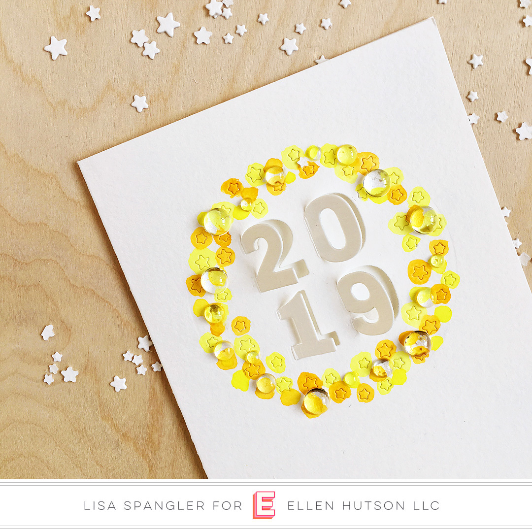 Essentials by Ellen Circle of Stars card by Lisa Spangler