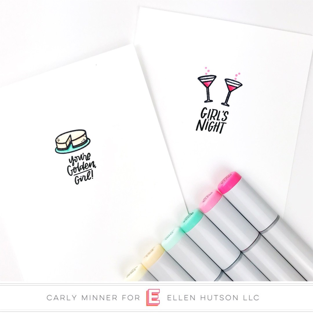 Essentials by Ellen It's A Date card by Carly Tee Minner