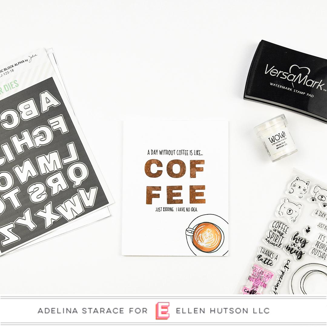 Essentials by Ellen Latte Love card by Adelina Starace