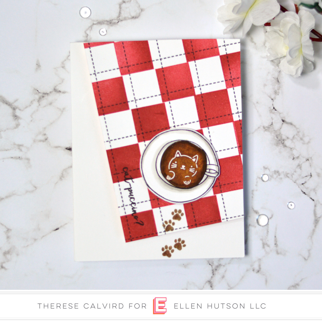 Essentials by Ellen Latte Love Card by Therese Calvird