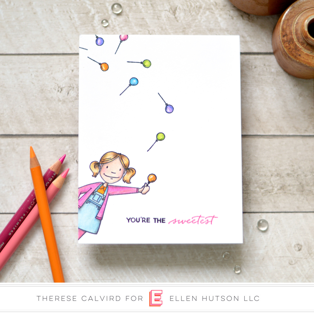 Essentials by Ellen Little Lady card by Therese Calvird
