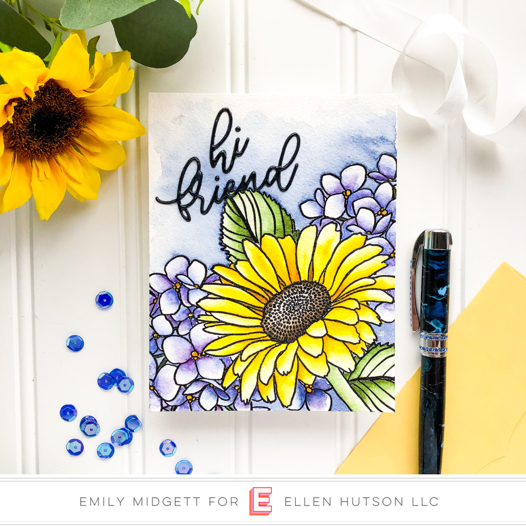 Essentials by Ellen Mondo Gerbera Daisy card by Emily Midgett