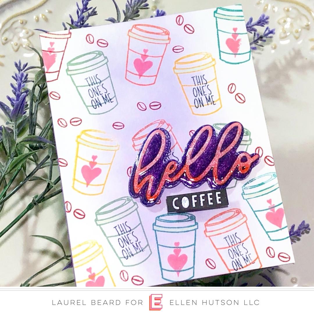 Essentials by Ellen Scripty Hello card by Laurel Beard