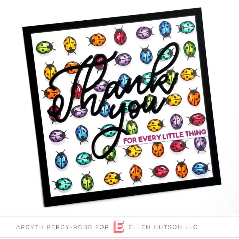 Essentials by Ellen Scripty Thank You card by Ardyth Percy-Robb