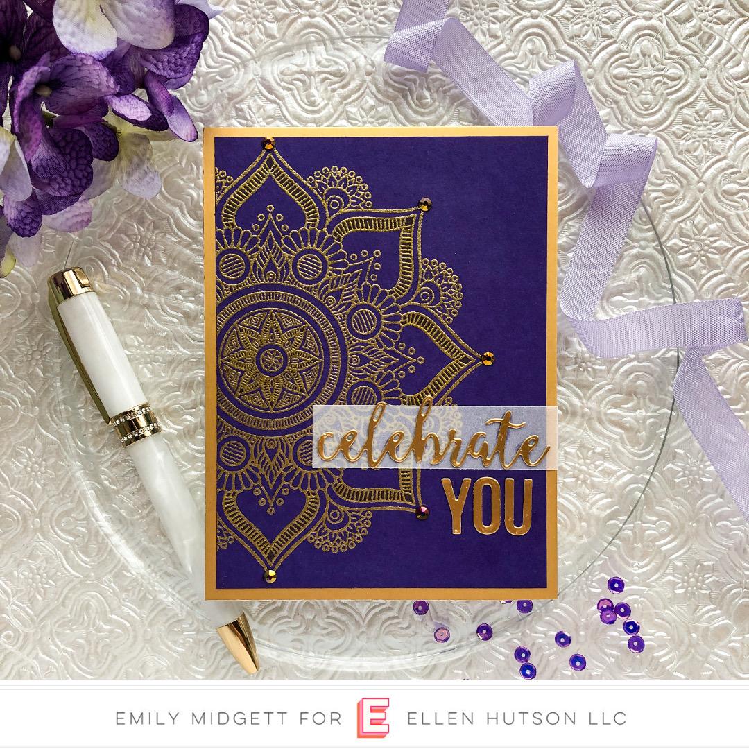 Paper Rose Studio Rose Mandala card by Emily Midgett