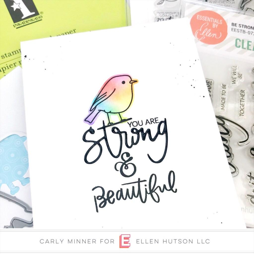 Essentials by Ellen Backyard Bird Friends card by Carly Tee Minner