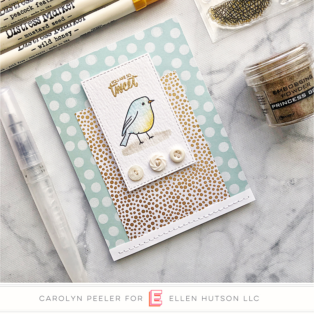 Essentials by Ellen Backyard Bird Friends card by Carolyn Peeler