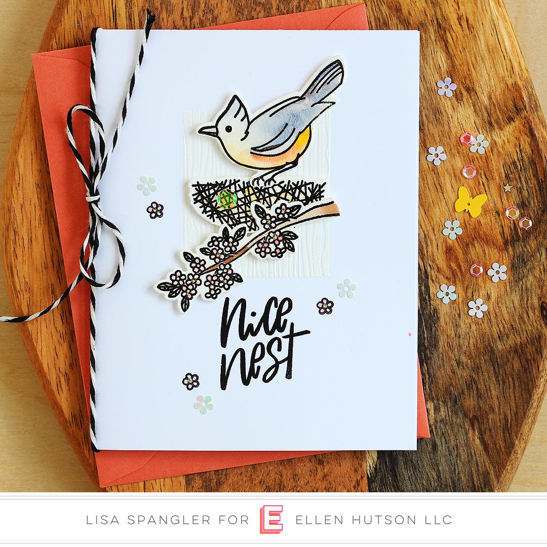 Essentials by Ellen Backyard Bird Friends card by Lisa Spangler