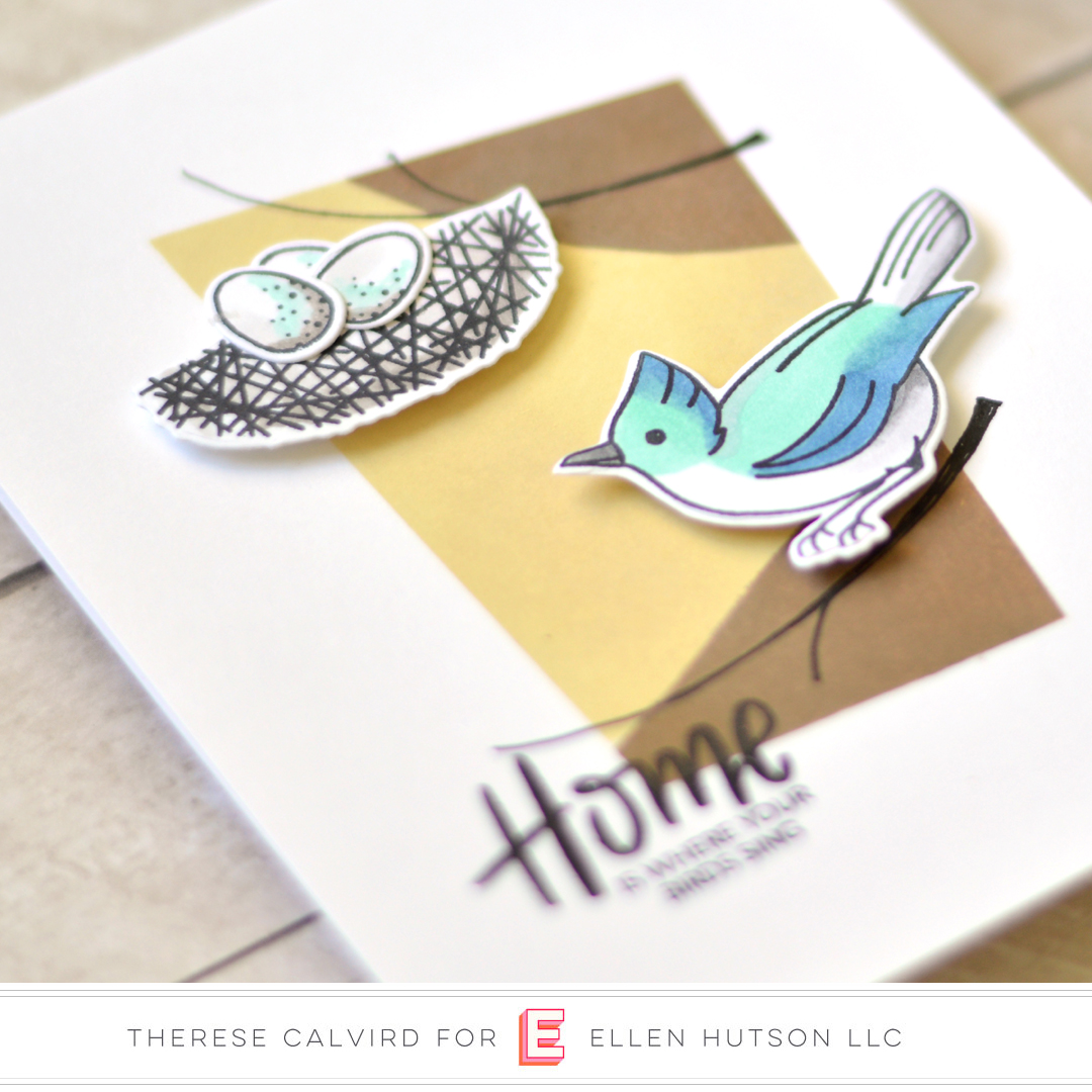 Essentials by Ellen Backyard Bird Friends card by Therese Calvird