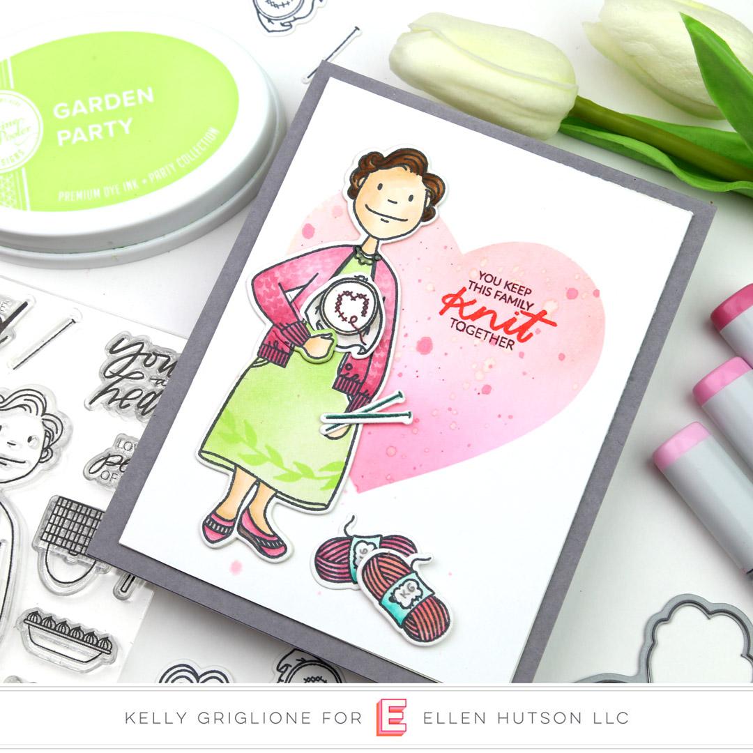 Essentials by Ellen Grand Lady card by Kelly Griglione