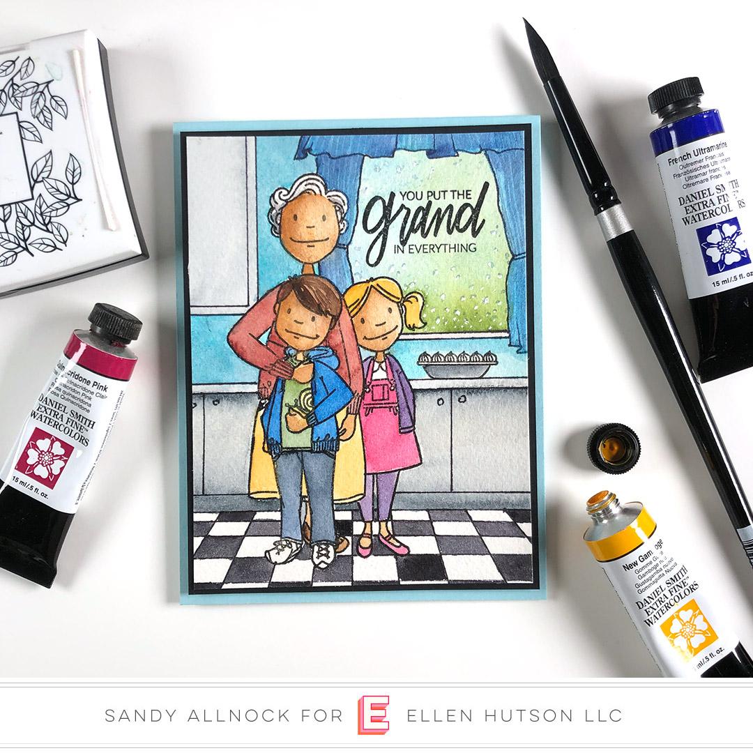 Essentials by Ellen Grand Lady card by Sandy Allnock