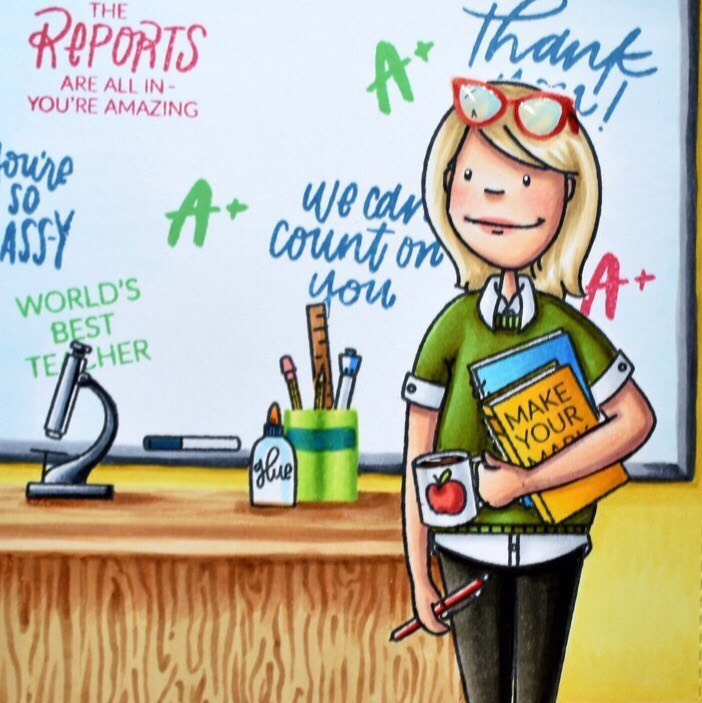 Coloring A Classroom Scene
