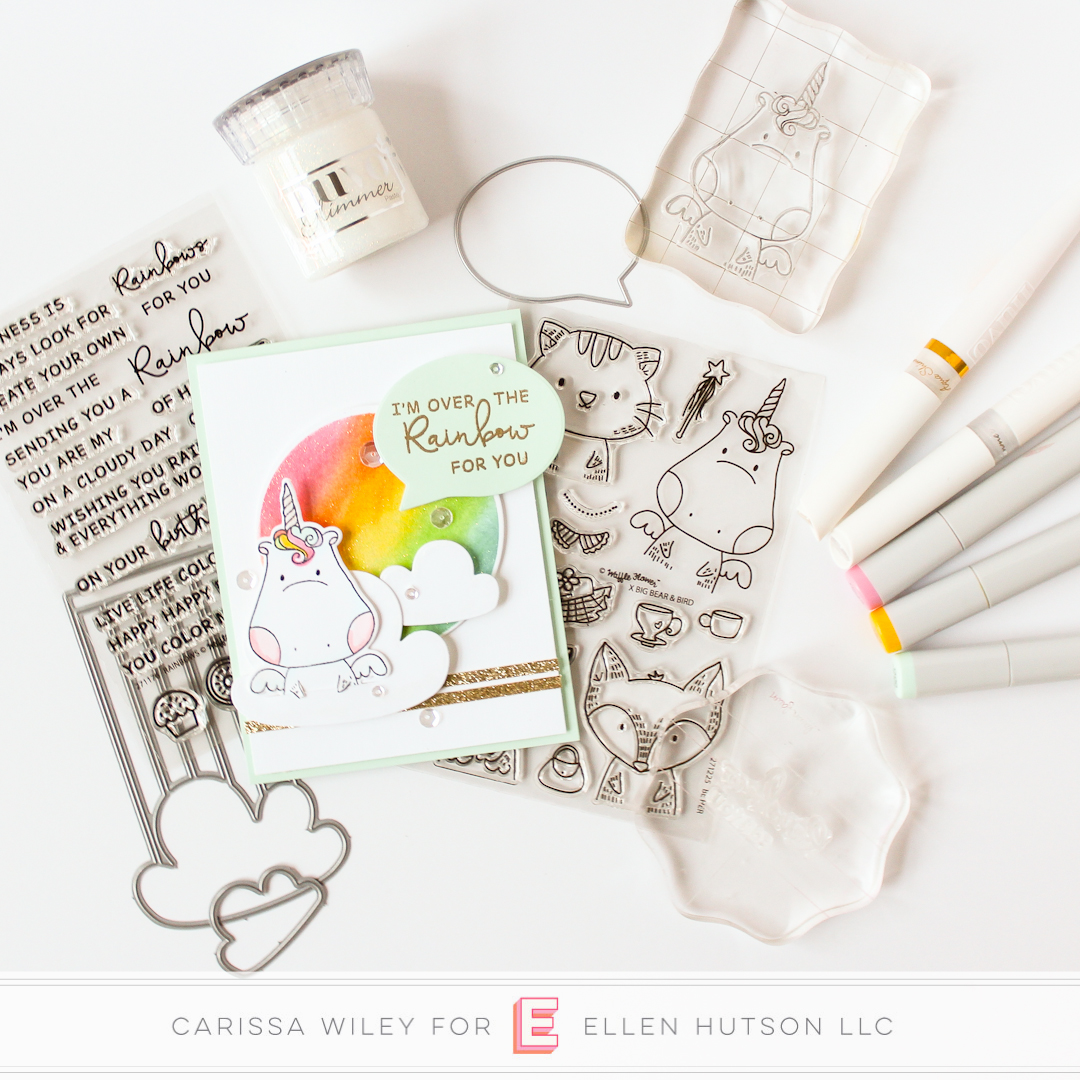 DIY Rainbow Glitter Paper with Carissa Wiley and Waffle Flower