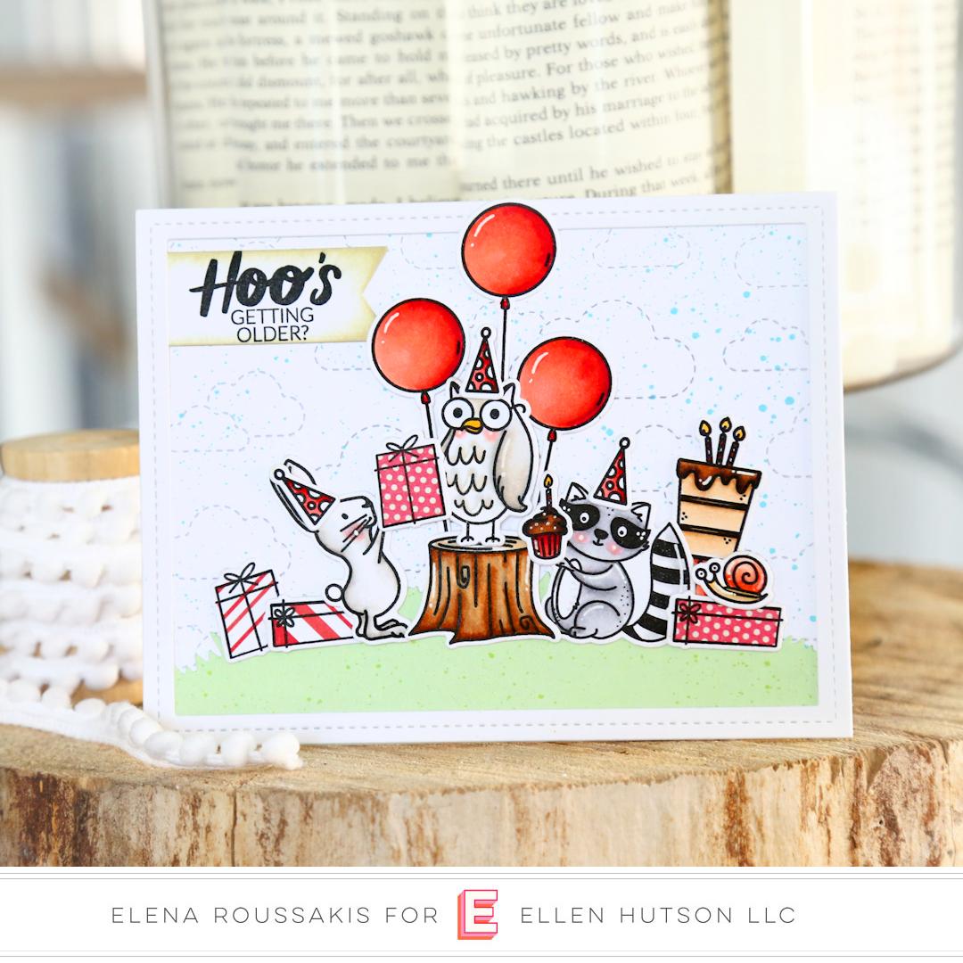 Essentials by Ellen Backyard Party card by Elena Roussakis