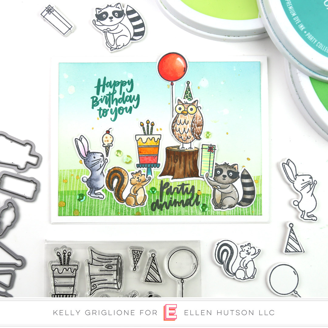 Essentials by Ellen Backyard Party card by Kelly Griglione