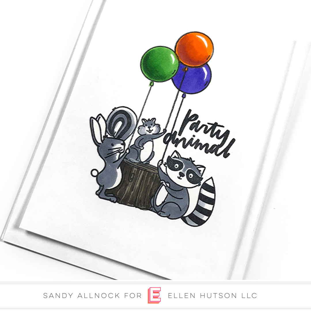 Essentials by Ellen Backyard Party card by Sandy Allnock
