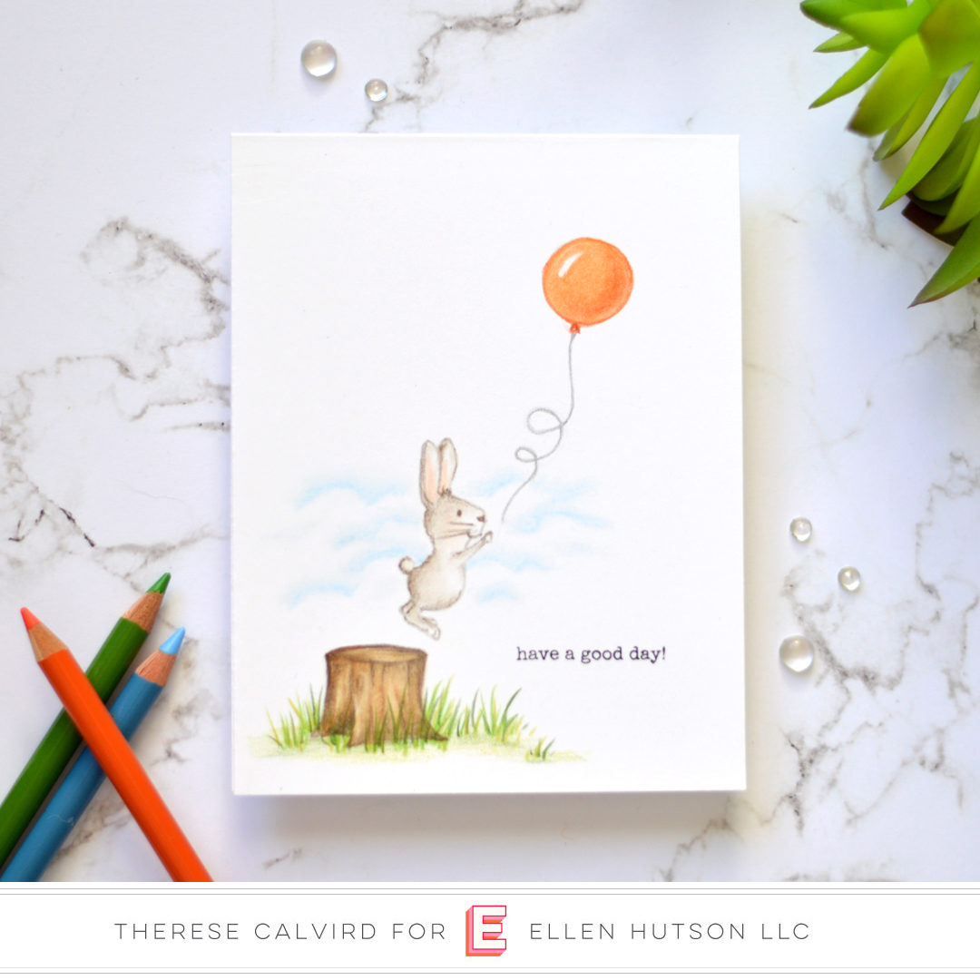 Essentials by Ellen Backyard Party card by Therese Calvird