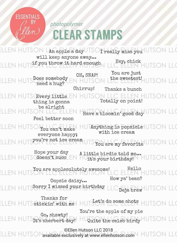 Essentials by Ellen Everyday Punnies stamps