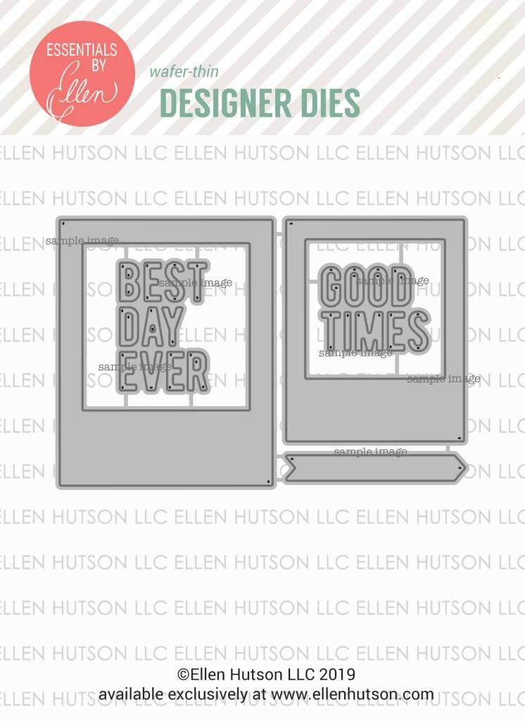 Essentials by Ellen Instant Photo Frames dies