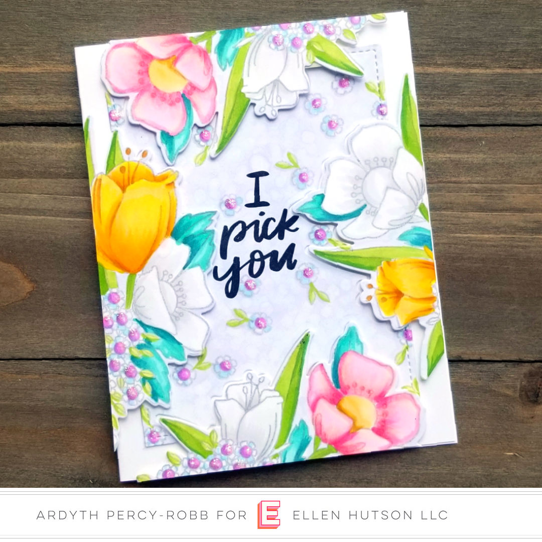 Essentials by Ellen Mondo Wildflowers card by Ardyth Percy-Robb