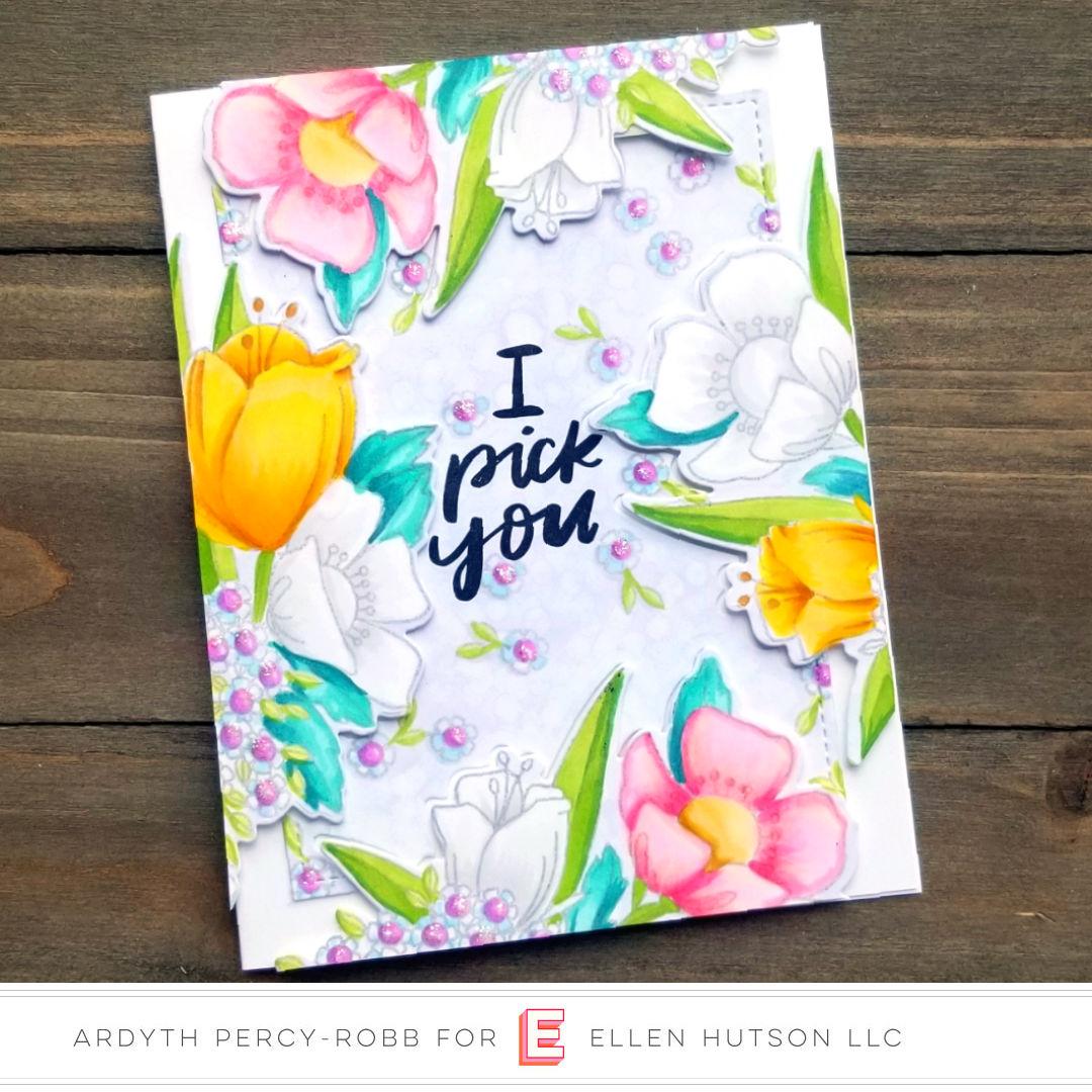 Essentials by Ellen Mondo Wildflowers card by Ardyth Percy-Robb