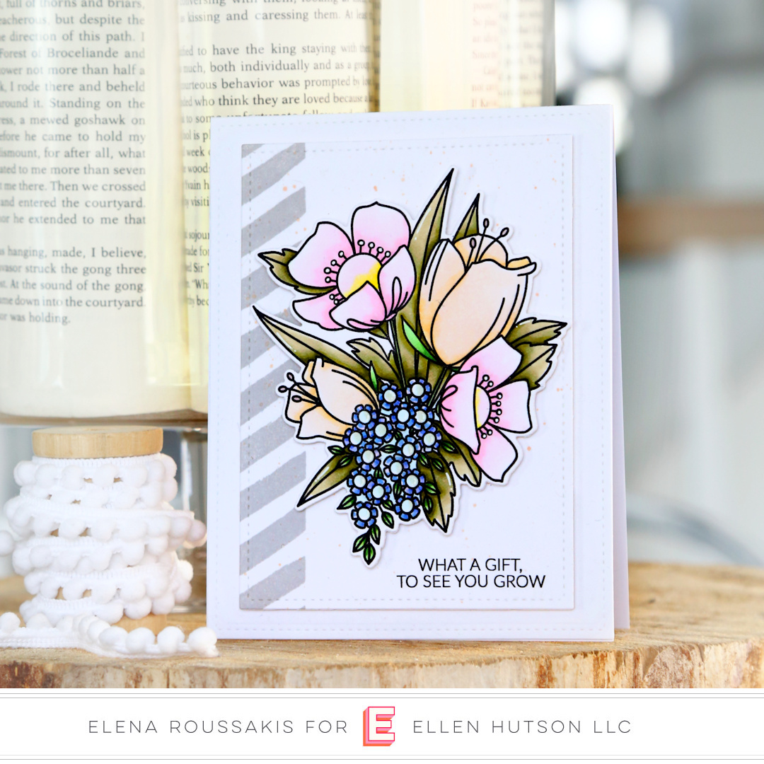 Essentials by Ellen Mondo Wildflowers card by Elena Roussakis