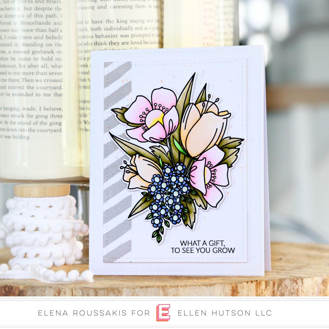 Essentials by Ellen Mondo Wildflowers card by Elena Roussakis