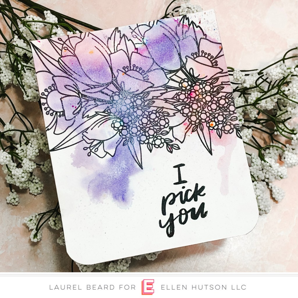 Essentials by Ellen Mondo Wildflower card by Laurel Beard