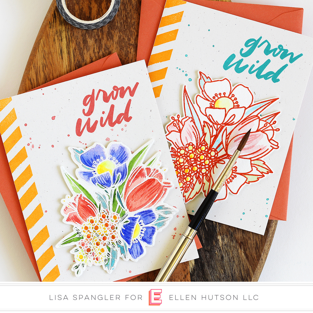 Essentials by Ellen Mondo Wildflowers cards by Lisa Spangler