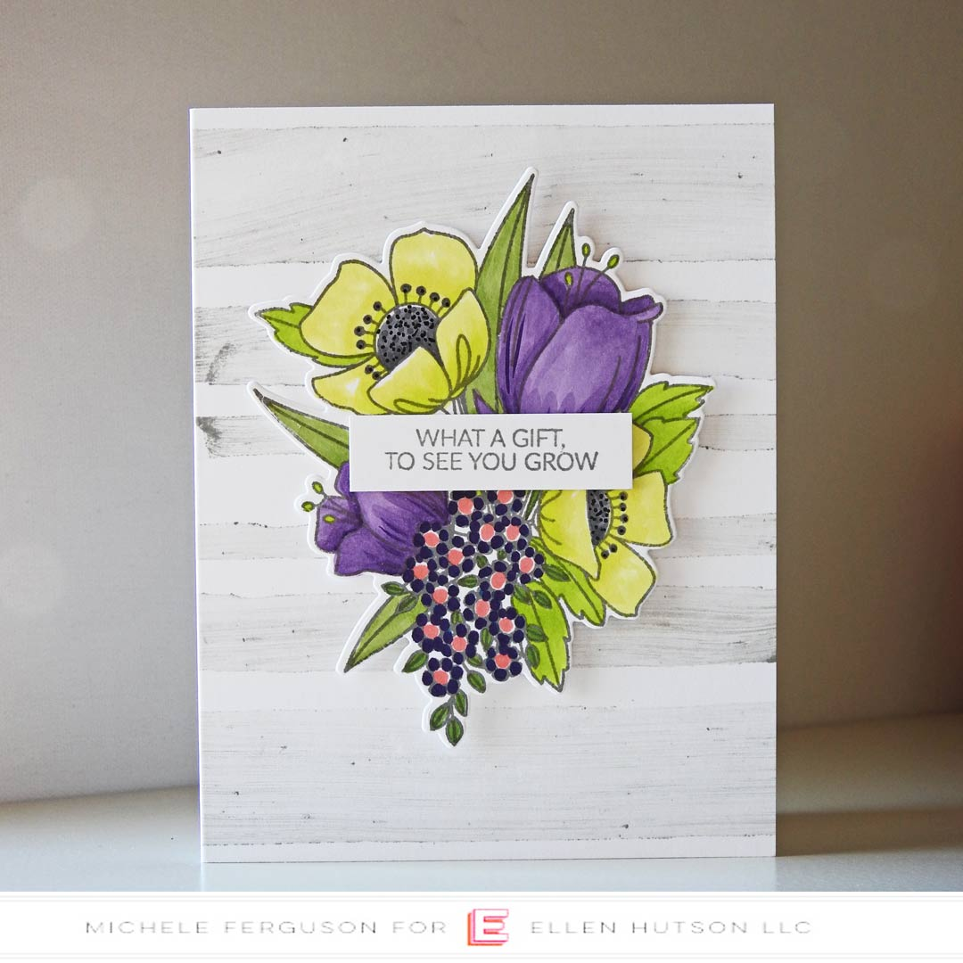 Essentials by Ellen Mondo Wildflowers card by Michele Ferguson