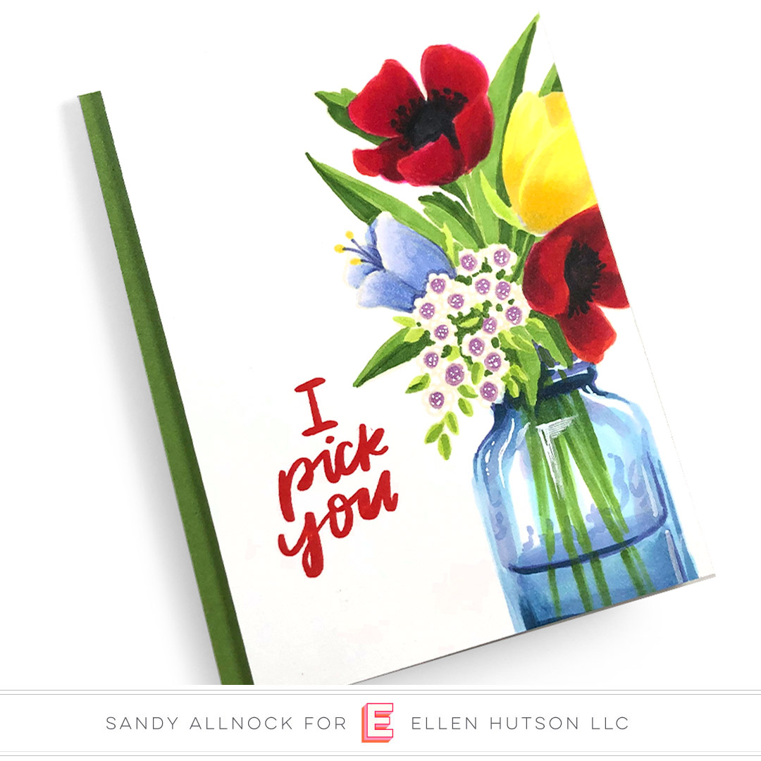 Essentials by Ellen Mondo Wildflowers card by Sandy Allnock