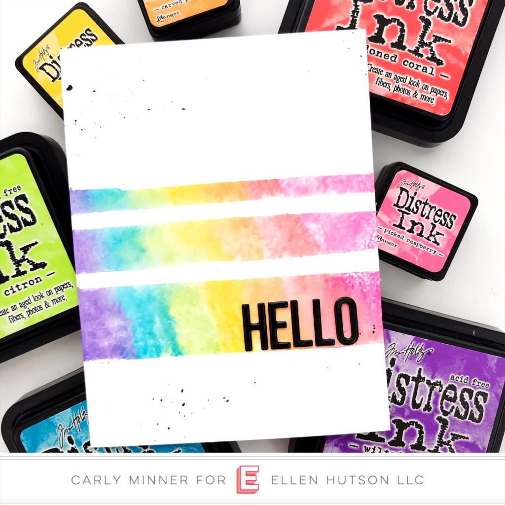 Essentials by Ellen Painted Stripes card by Carly Tee Minner