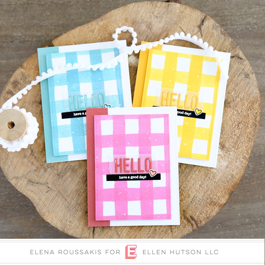 Essentials by Ellen Painted Stripes card by Elena Roussakis