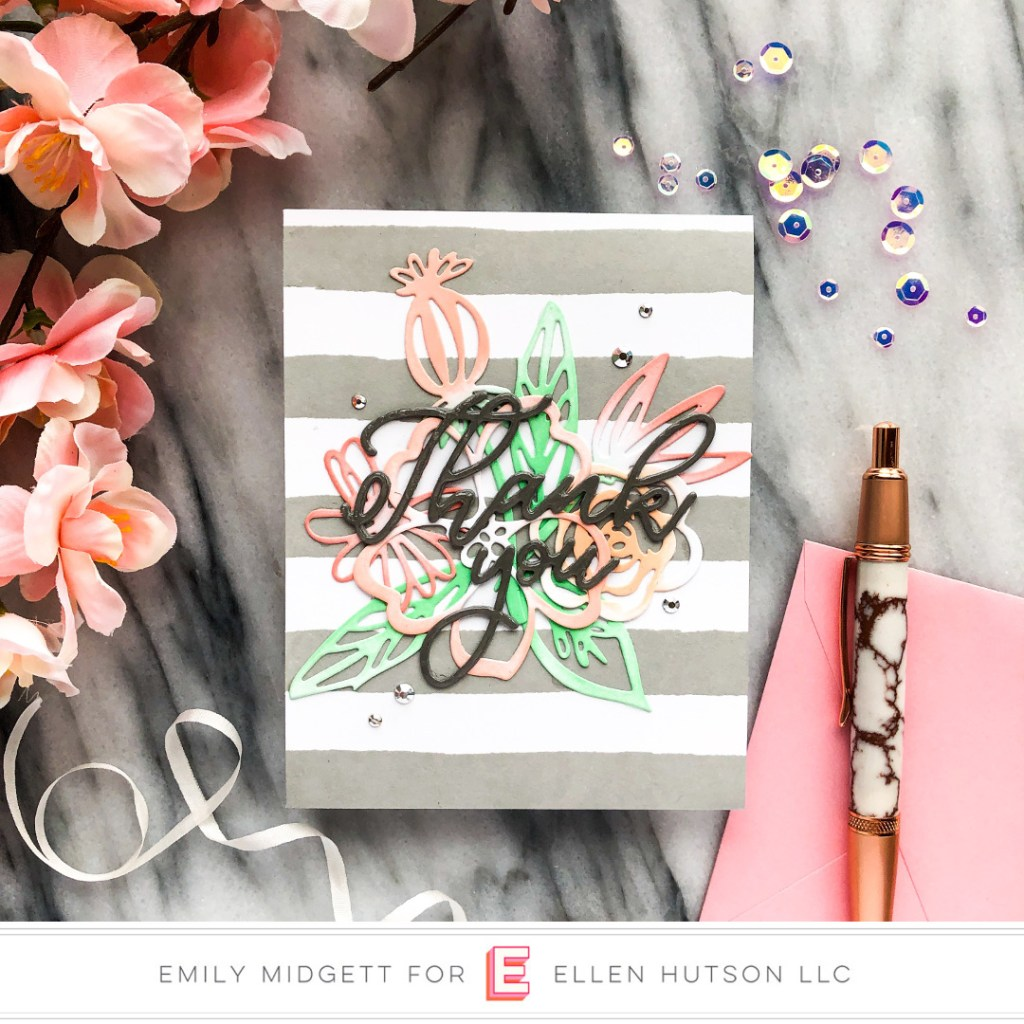 Essentials By Ellen Painted Stripes card by Emily Midgett