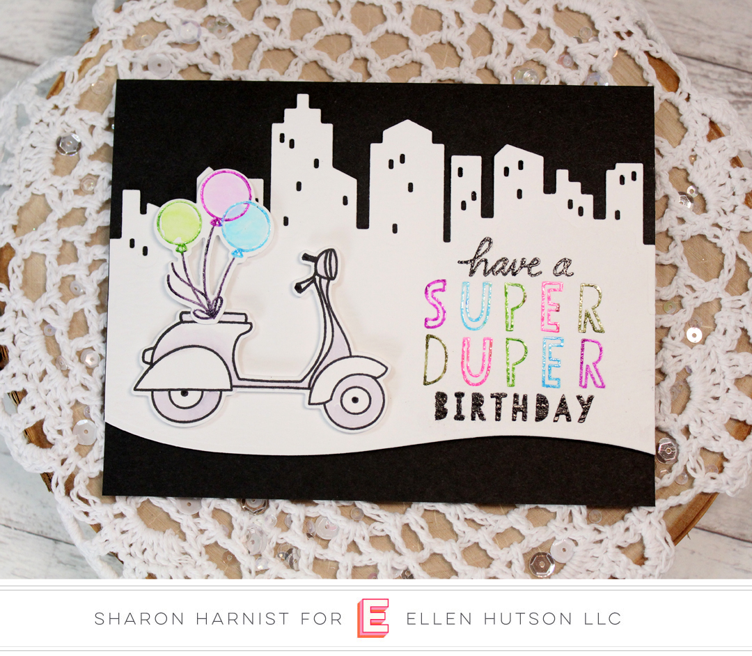 Essentials by Ellen Big City card by Sharon Harnist