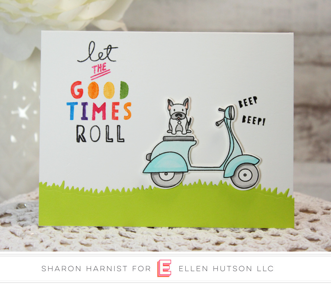 Essentials by Ellen Good Times card by Sharon Harnist