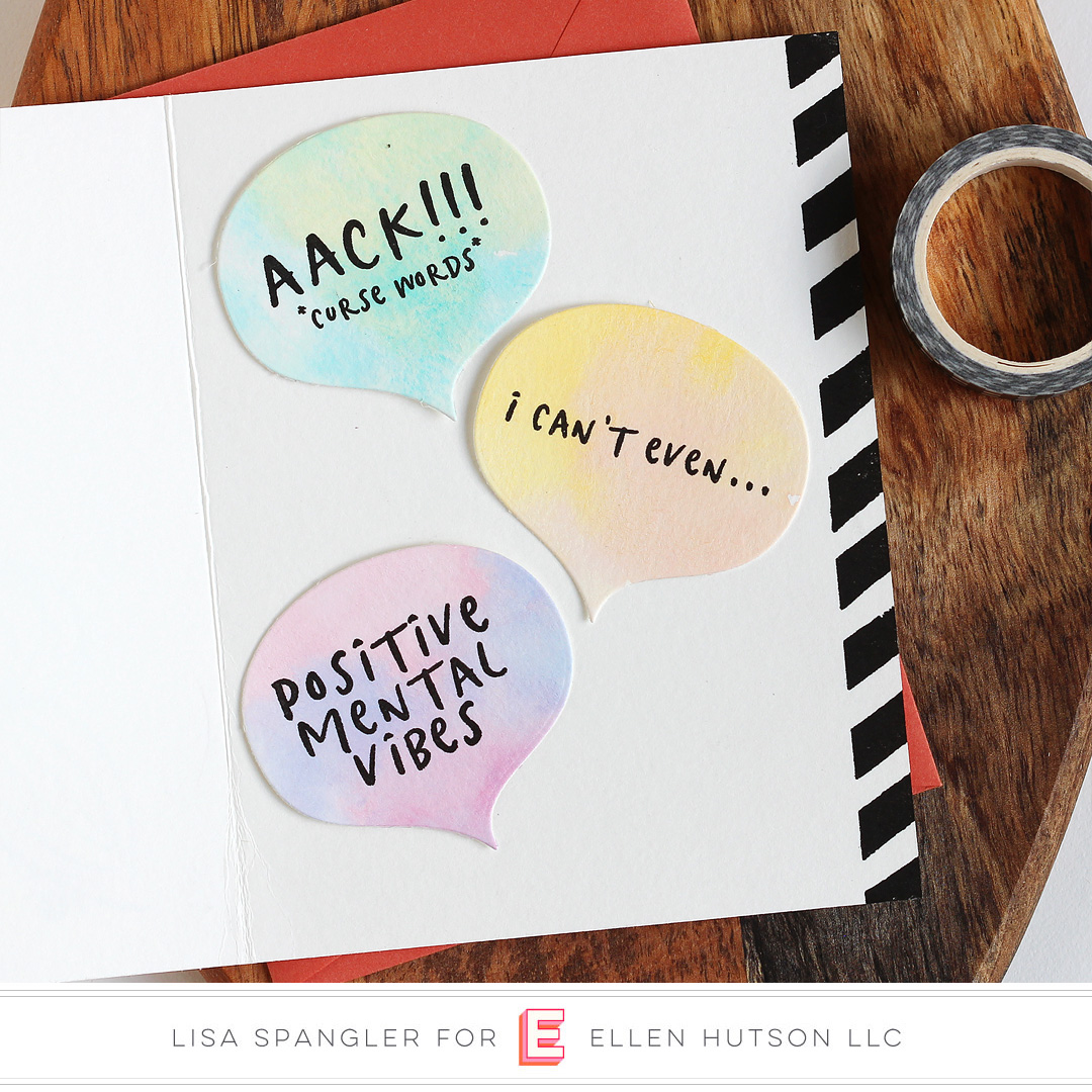 Essentials by Ellen Voices In My Head card by Lisa Spangler