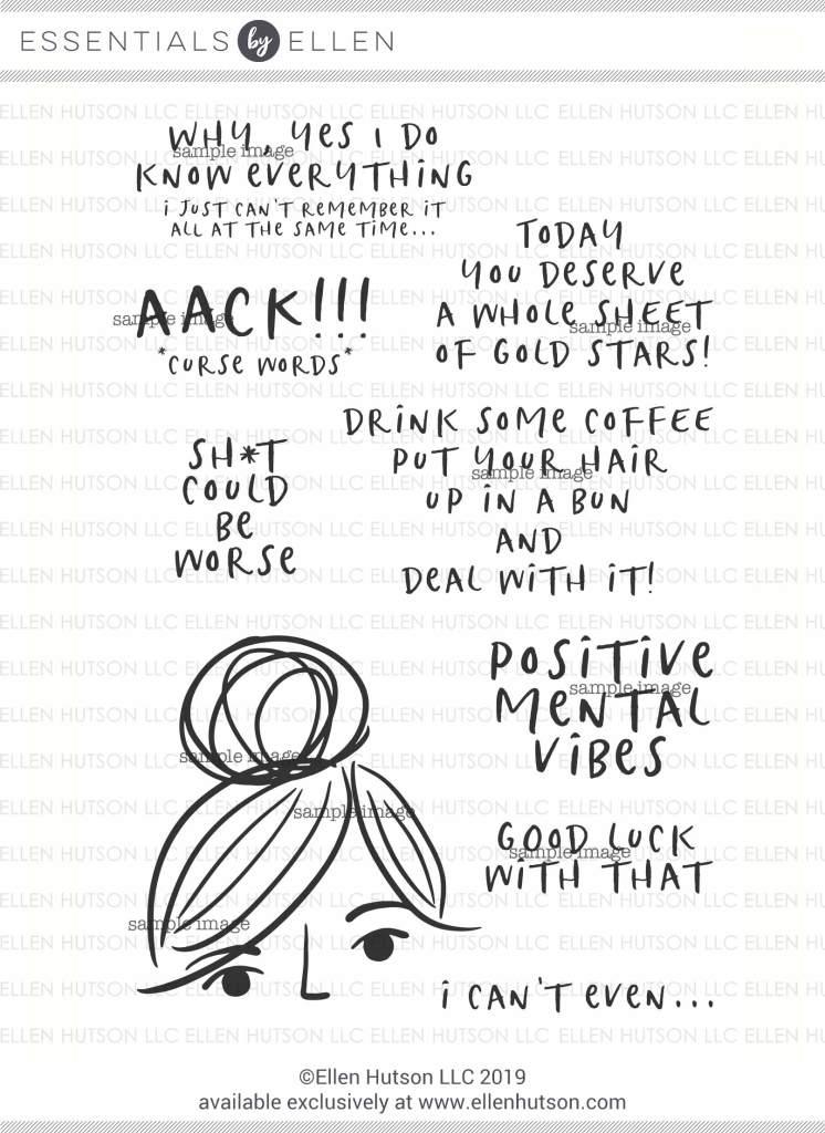Essentials by Ellen Voices In My Head stamps