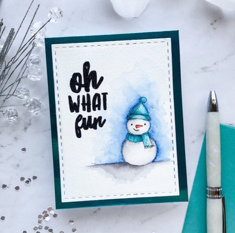 Coloring Snow With 3 Mediums